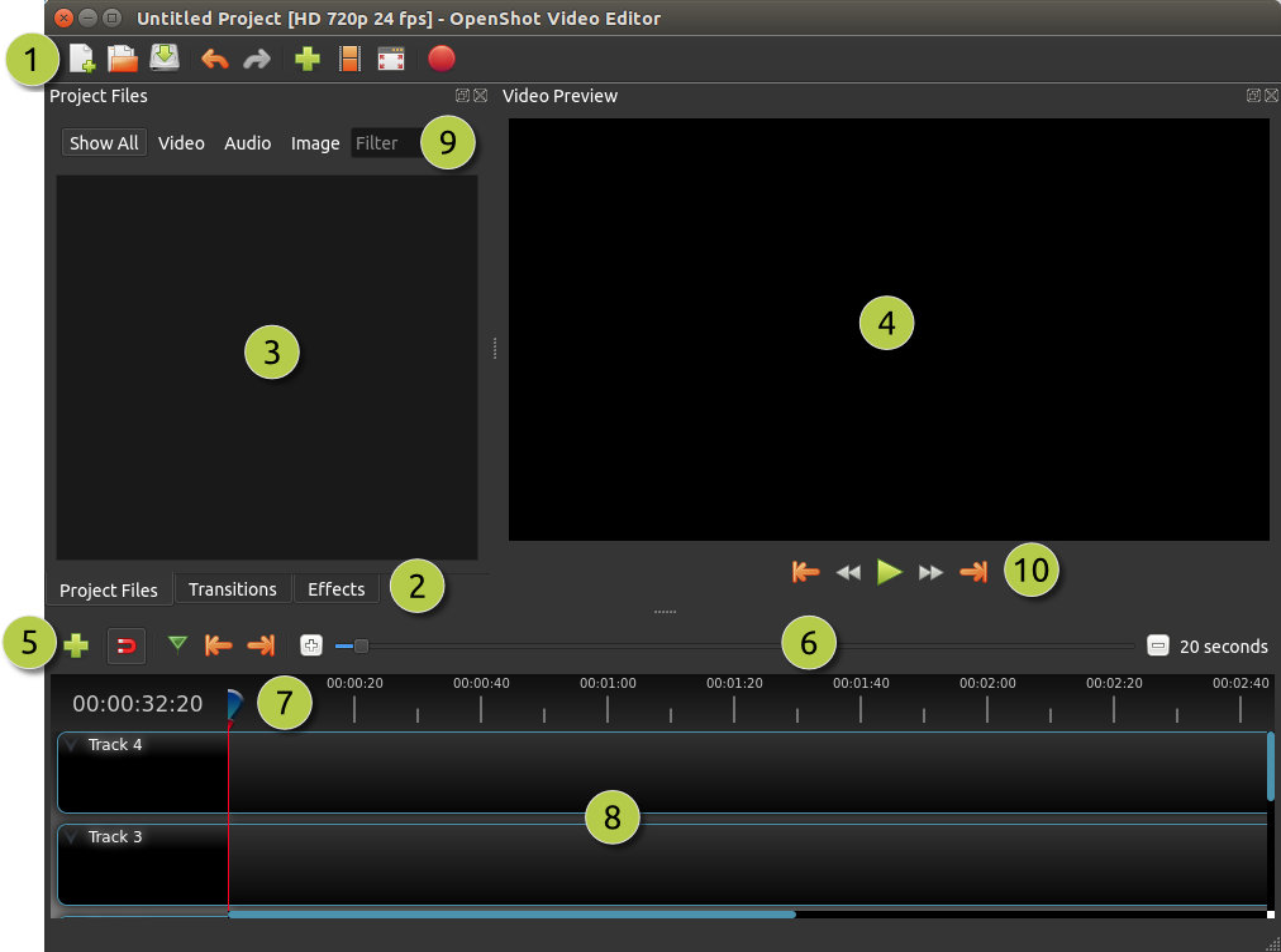 Main Window — OpenShot Video Editor 2 4 1-dev1 documentation
