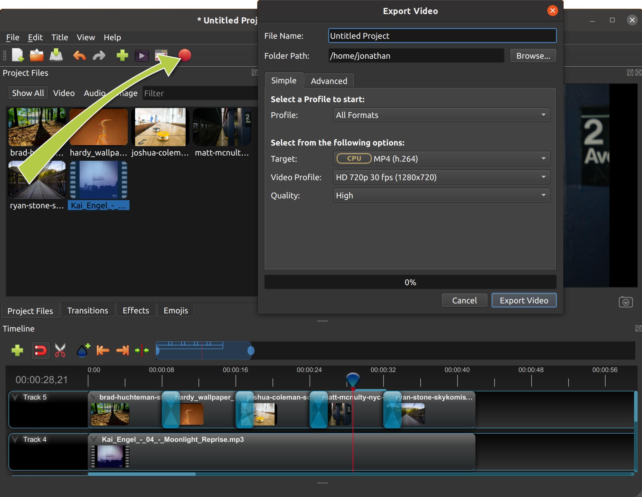 Quick Tutorial — OpenShot Video Editor 2 4 1-dev1 documentation
