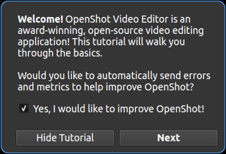 Improved privacy opt-in for OpenShot 2.5.0