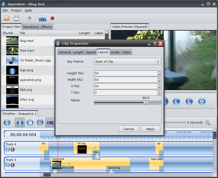 OpenShot Video Editor | Linux Video Editor... Now with Key-Frames!