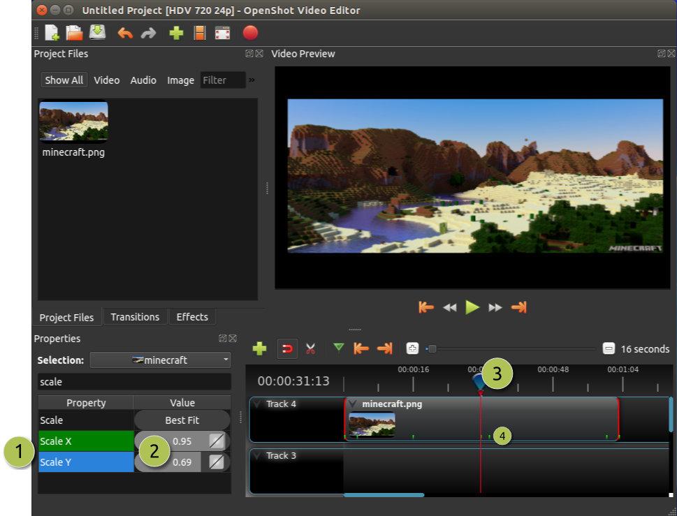 OpenShot Video Editor for Linux full screenshot
